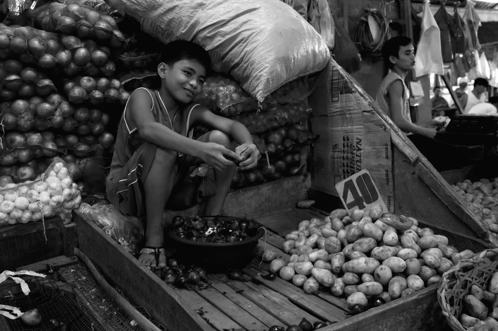 Sur le marché de Davao city