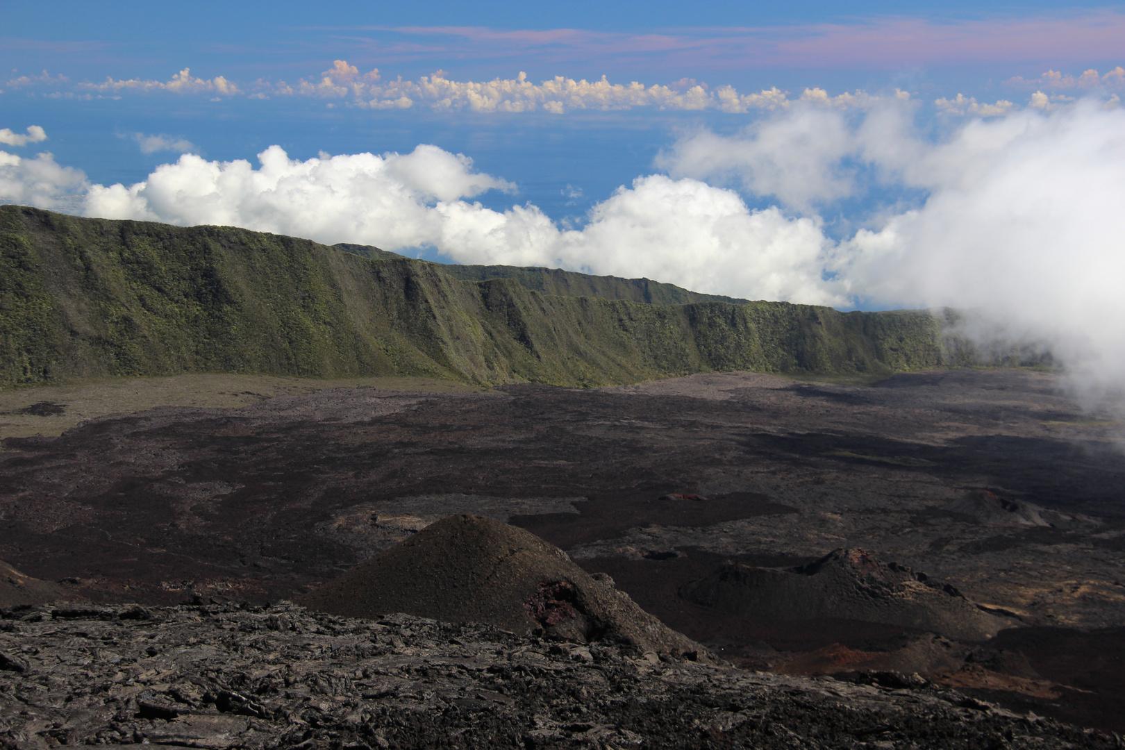 Sur le toit de La Réunion