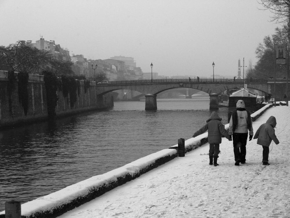 Sur les quais, janvier 2008