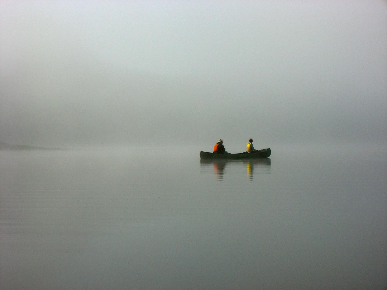 Sur un lac du Québec, 5 heures du matin