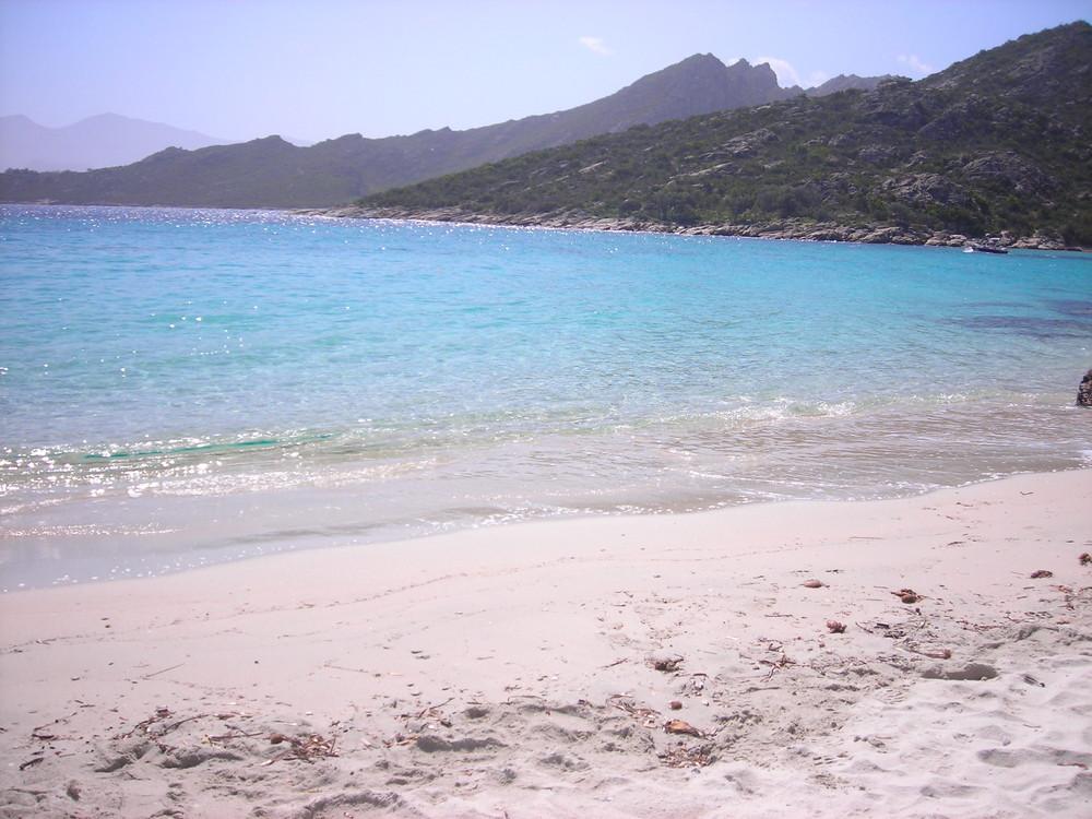 sur une plage abandonnée...