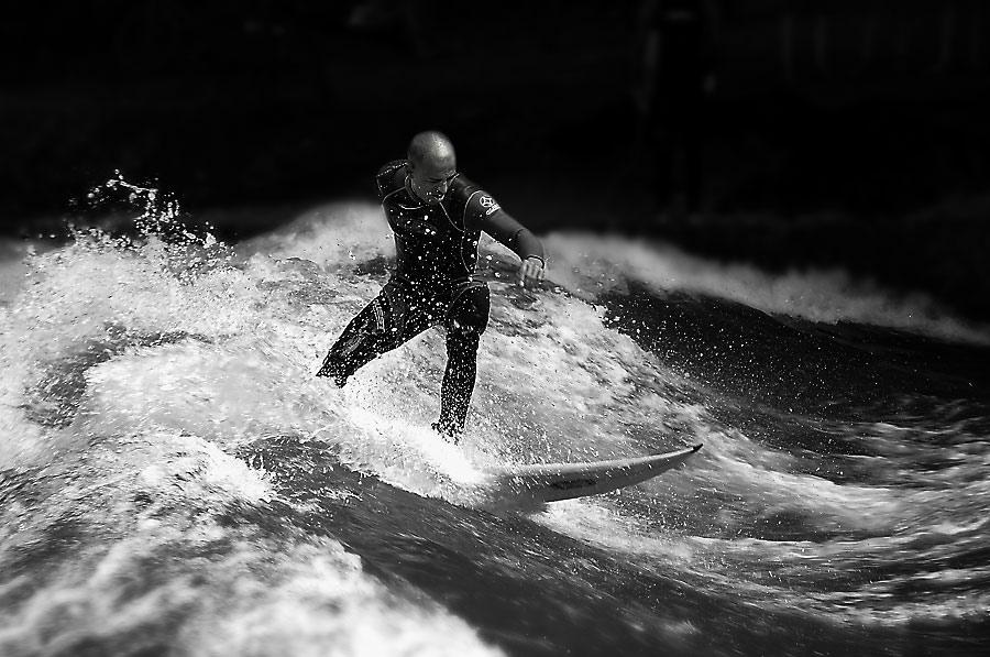 Surfen am Eisbach