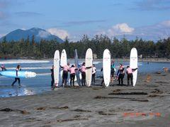 Surfen am Pacifik in Tofino ( Canada)