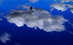 surfen auf Wolke sieben
