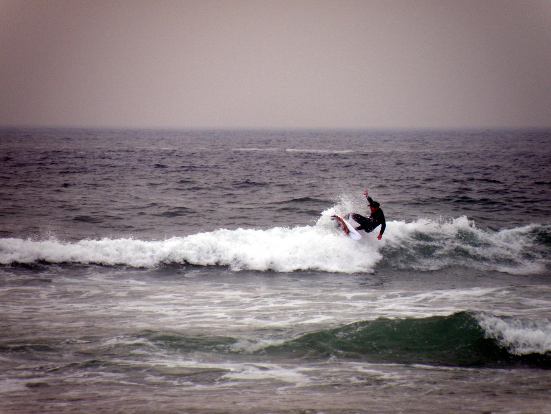 Surfer am Strand von Newquay
