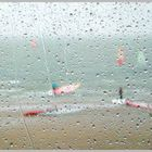 Surfer im Regen