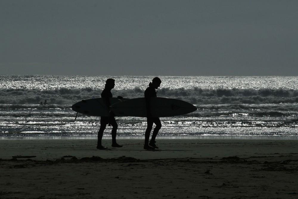 Surfers Long Beach, Tofino Vancouver Island
