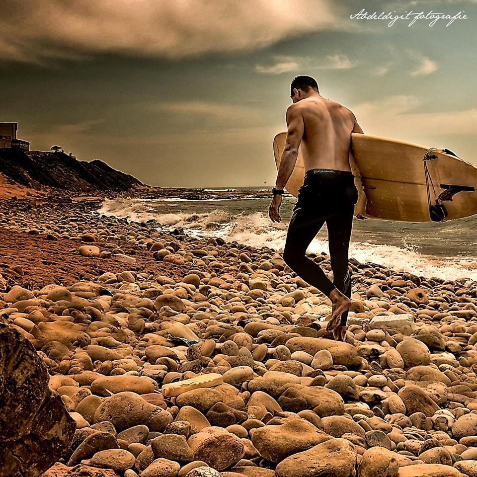 surfing in Marocco