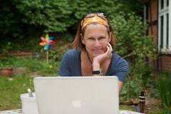 Susan working