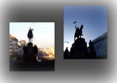 S:Venceslao..piazza e statua del santo...