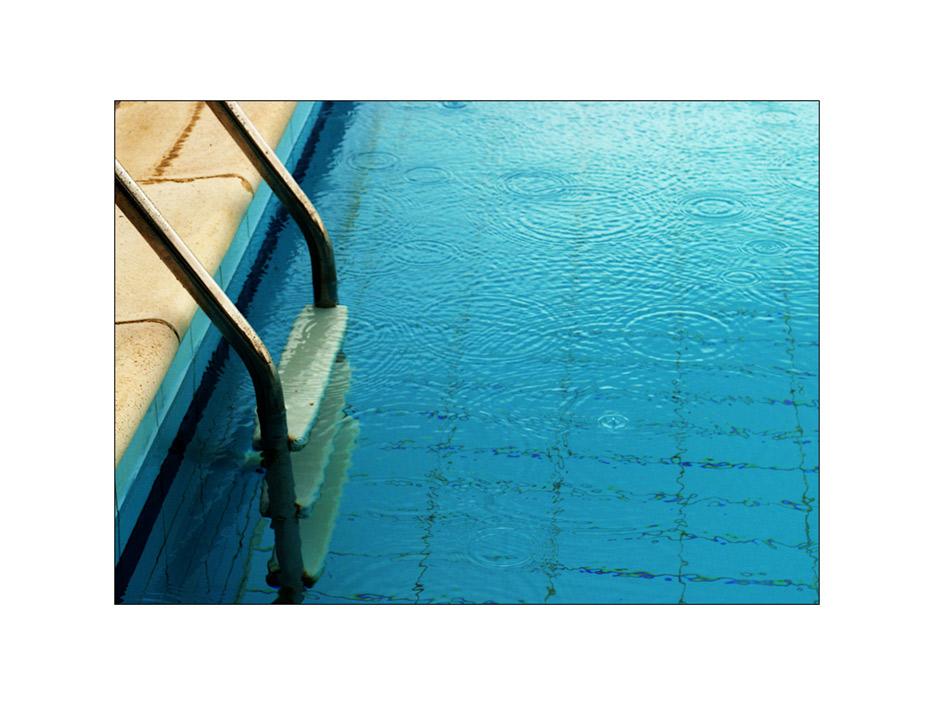 swimming in the rain