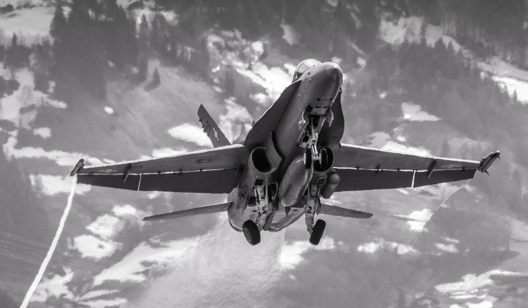 Swiss Air Force Meiringen Start F18