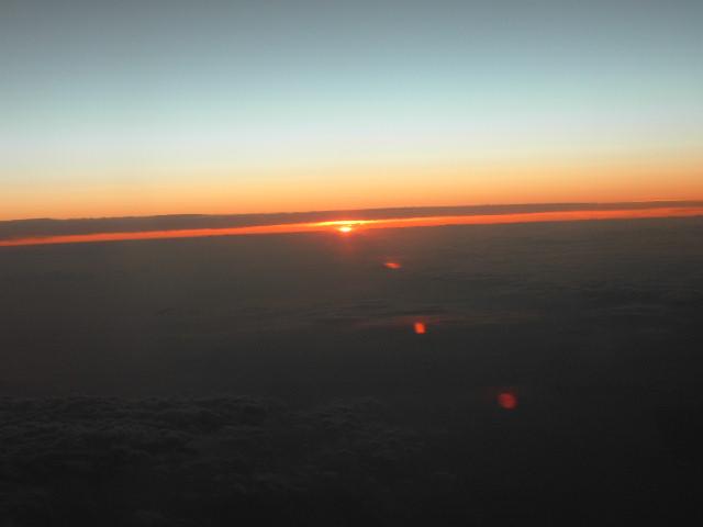 Swiss flight, Athens Geneva, 2008