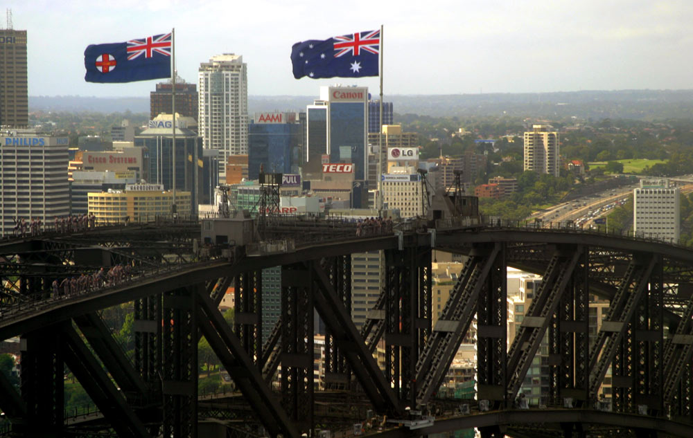 Sydney Harbour Bridge from Helicopter
