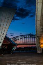 Sydney Opera + Harbour Bridge at night