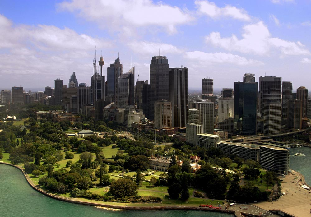 Sydney Skyline from Helicopter