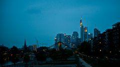 Sykline von Frankfurt aus dem Oosten