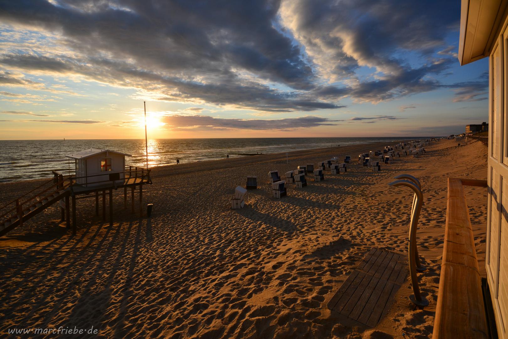 Sylt - Abendstimmung am Strand Westerland