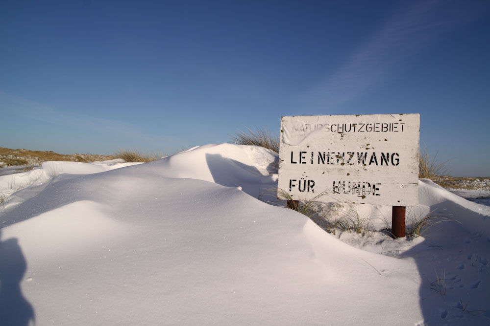 Sylt bei Schnee