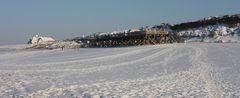 Sylt Kampen bei Schnee und Eis und Strandkörben