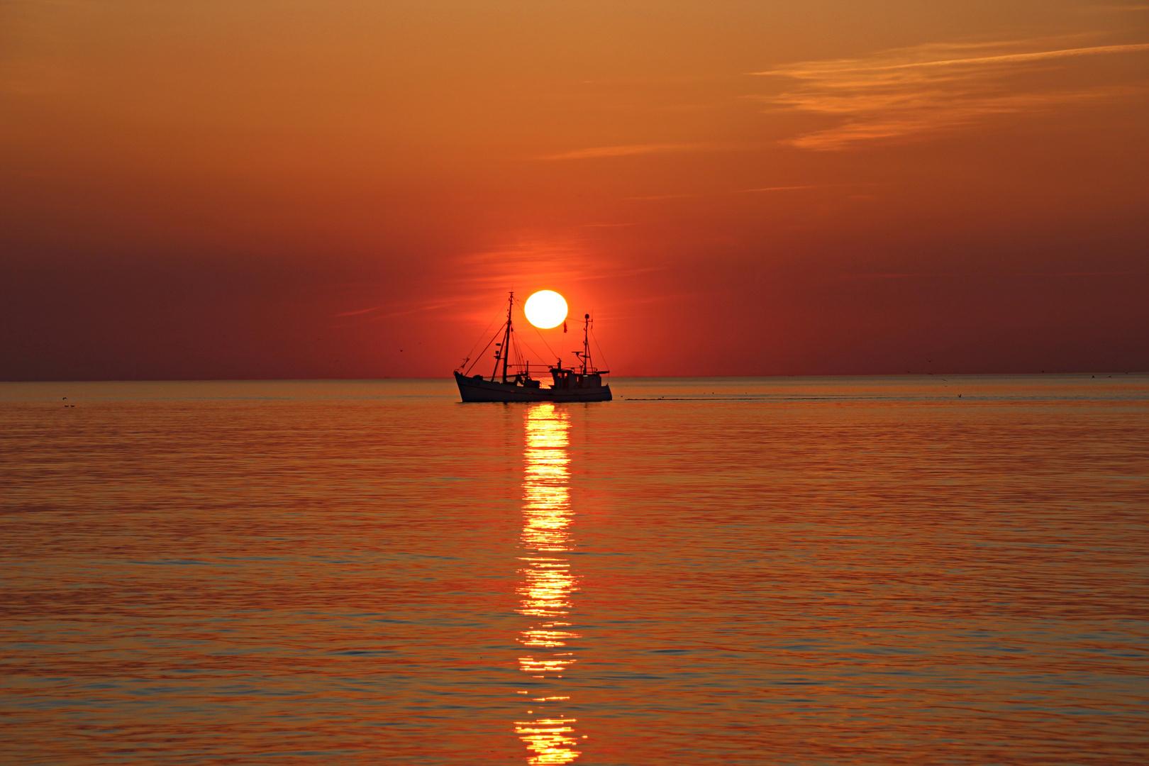"""Sylt """" Sonnenuntergang am Strand von Westerland"""""""