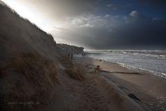 SYLT - Spaziergang bei Sturmflut