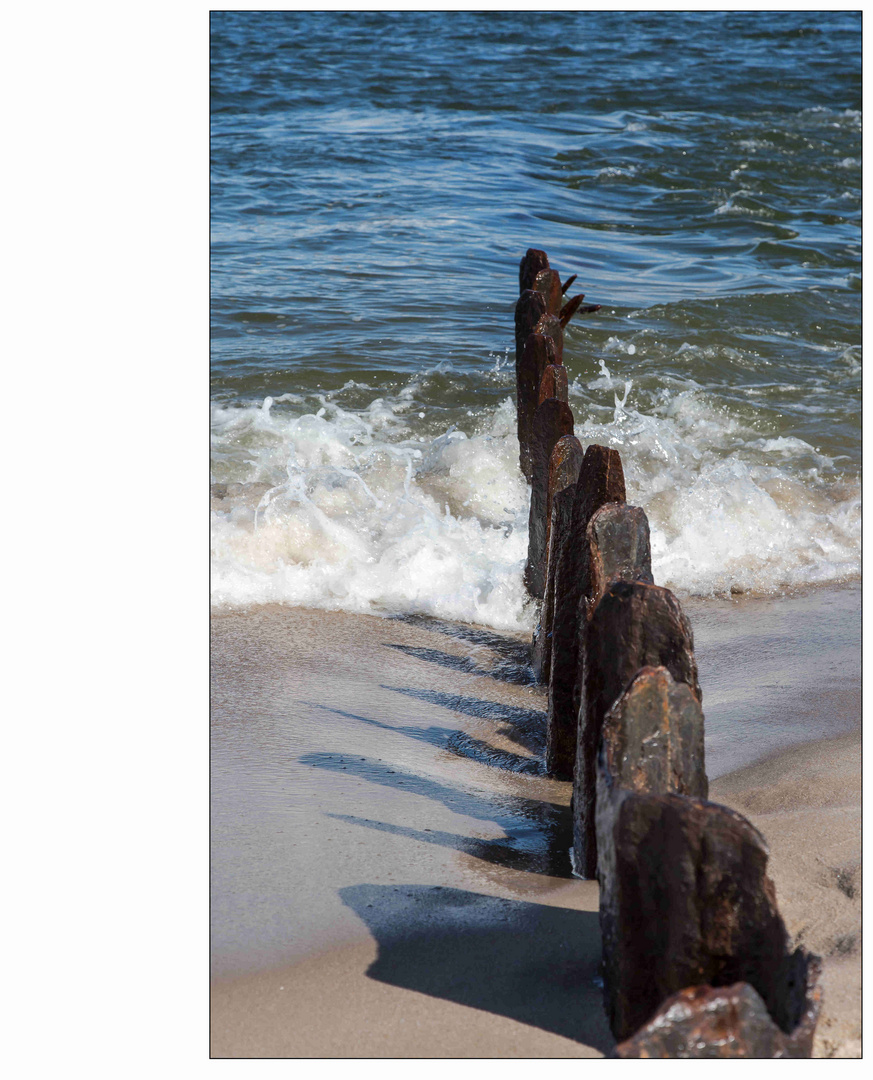 Sylt, - Stahl am Strand ...
