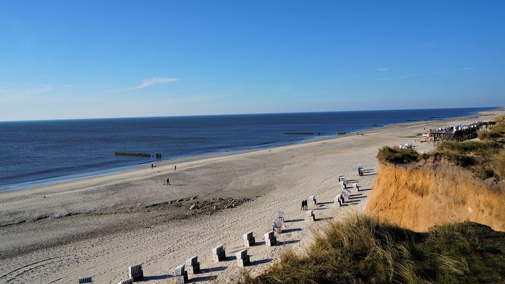 sylt strand sonne luft und meer foto  bild