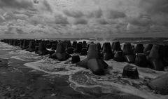 Sylt - Tetrapoden am Hörnumer Strand