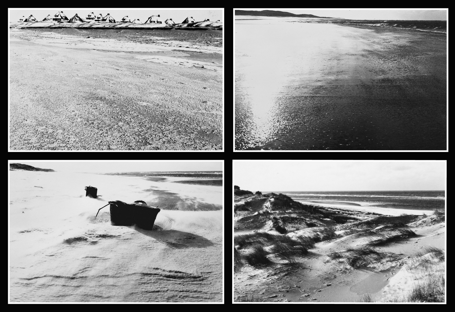Sylt Winter 1980 / Collage
