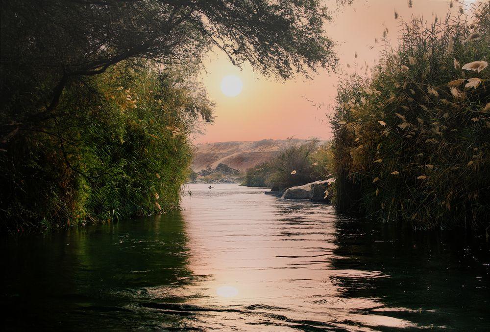 Szene am Fluss