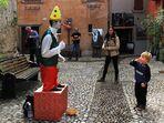 Szene in der Altstadt von Malcesine