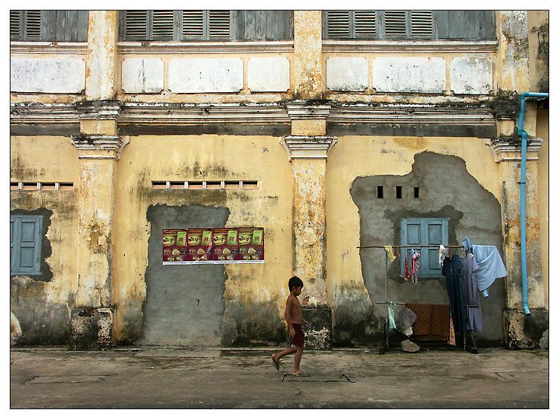 Szenen am Strassenrand - Kampot, Kambodscha
