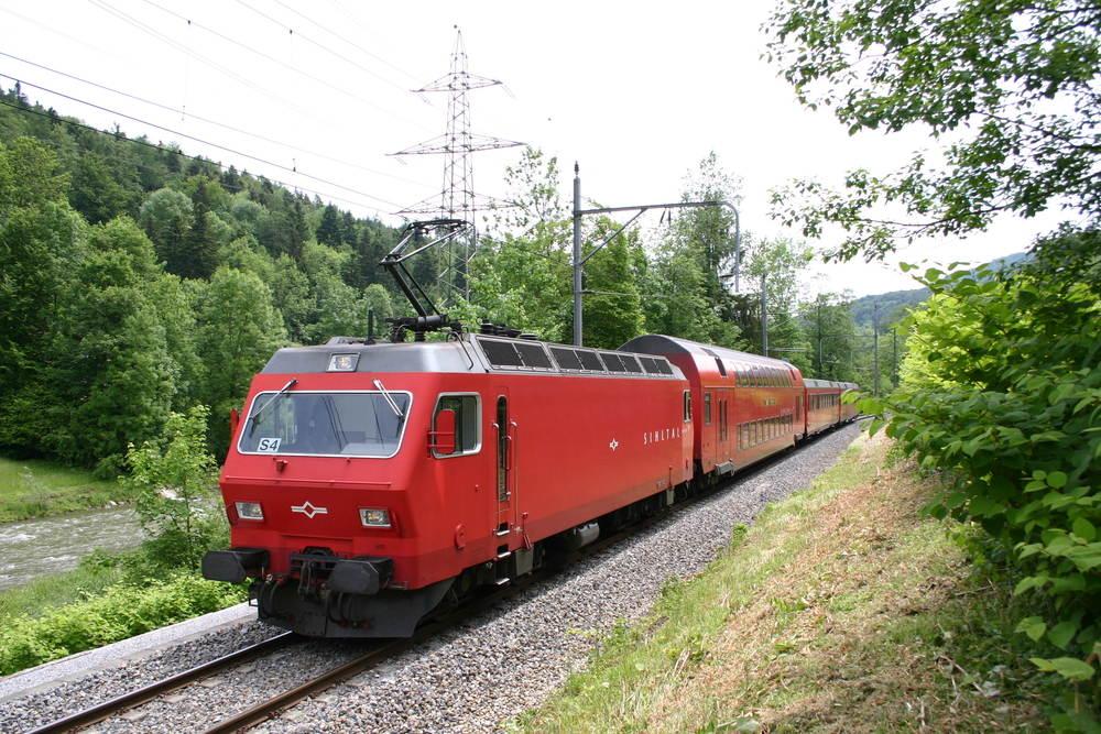 SZU Re 446 bei Sihlwald