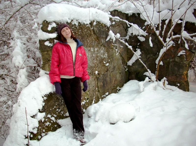 Tabi and snow