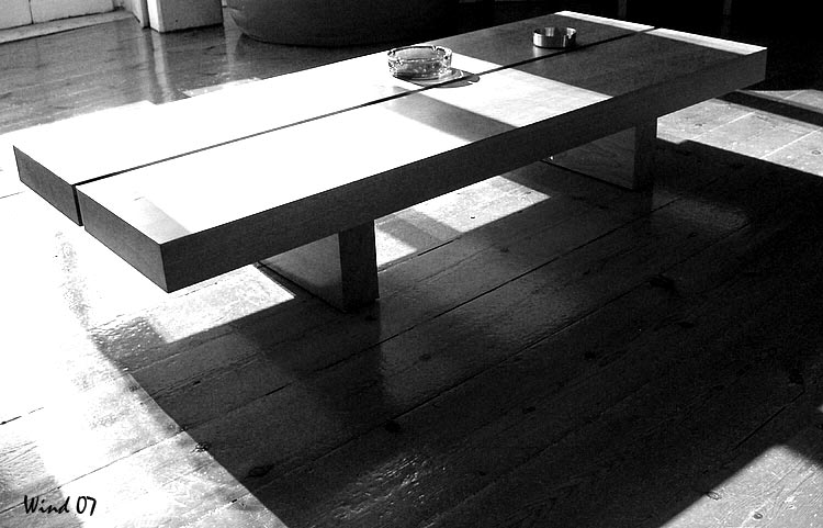 Table and shadows in B&W