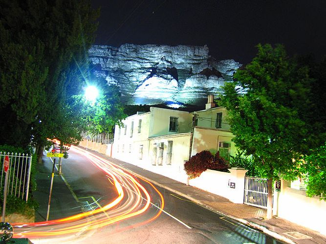 Table Mountain at night