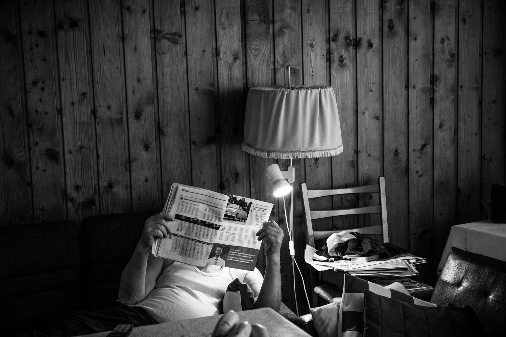 Täglich die Zeitung lesen