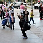 Tänzer und Mädchen street w10