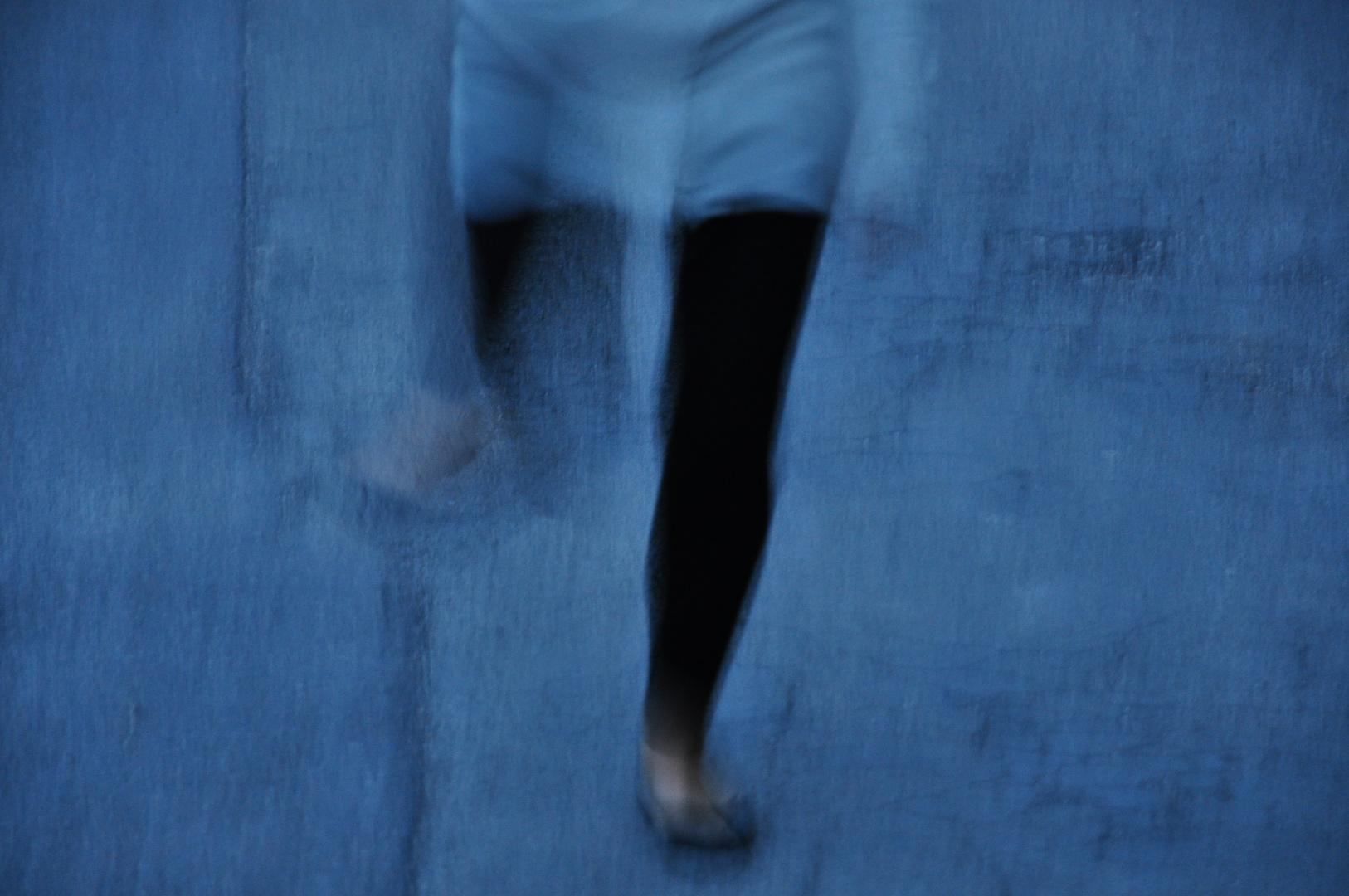 Tänzerin auf Asphalt