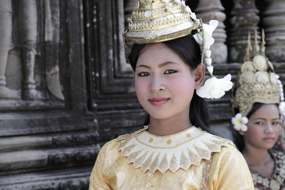 Tänzerin in Angkor Wat