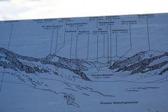 Tafel abfotografiert von der Sphinx, um bei der Bergbenennung keine Fehler zu machen