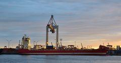 Tag ein Tag aus , Monat für Monat ; der Hamburger Hafen steht nie still