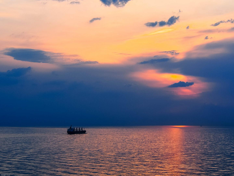Tagesende auf der Nordsee