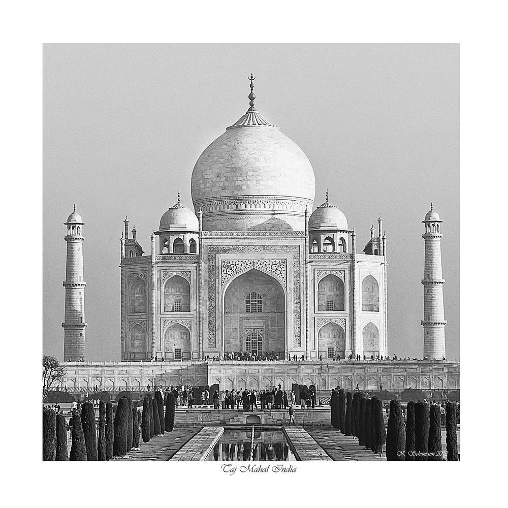 Taj Mahal Monochrome