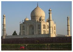 Taj Mahal: Rückseite im Abendlicht...
