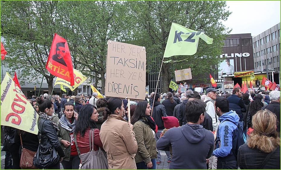 Taksim ist überall Stuttgart Modemo Plakat 3.06.13 K21
