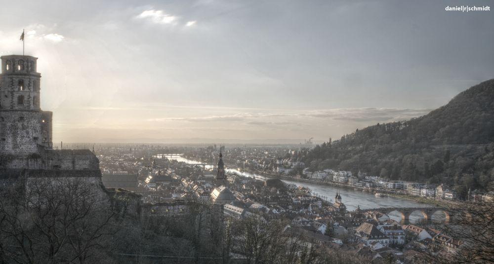 Talblick in Heidelberg
