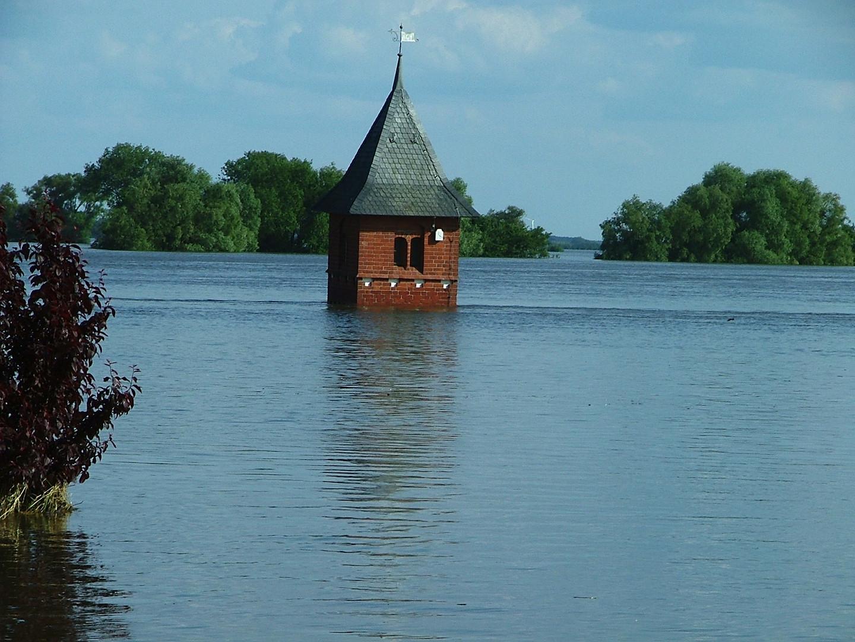Tangermünde im Hochwasser