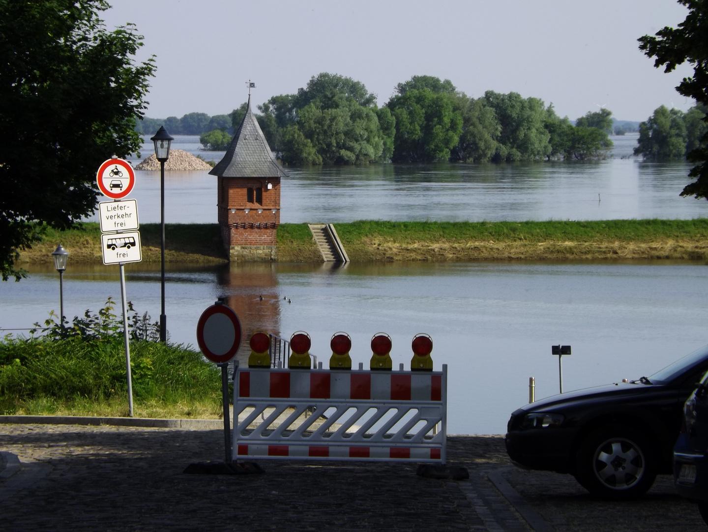 Tangermünde im Hochwasser, fast wieder normal Stand
